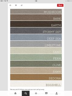 warm home color paint pallet - should cover all parts of the house - upper and lower! Interior Paint Colors For Living Room, Best Interior Paint, Bedroom Paint Colors, Paint Colors For Home, House Colors, Living Room Decor, Color Palette For Home, House Color Palettes, Colour Combinations Interior