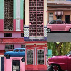 """Cuba está na mira dos """"coolhunters"""" no momento!! Muitas combinações de cores, lindas, aparecem por todos os lados... Uma ótima inspiração para paleta de cores!! #kalimo #labk #outubrorosa #pinks #cuba #onfleek #yasssss #pink #colors #beauty #inspiration"""