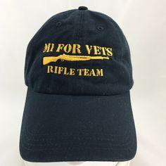 0b890b9a782 M1 For Vets Rifle Team Blue Baseball Cap Dad Hat Adjustable Strapback  Veterans  CapAmerica