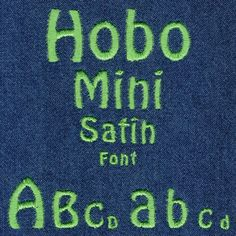 444 Hobo Mini Satin Font - Jolson's Designs