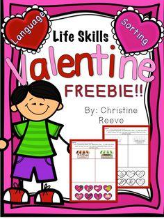 Autism Classroom News: Special Education Valentine Blog Hop Freebies!!