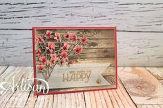 Happy Watercolor card - Jeanna Bohanon 2013 Stampin' Up! Artisan Design Team