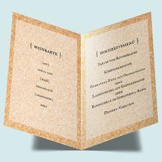 Hochzeitsmenü mit Liebespfeil Menükarten zur Hochzeit bestellen