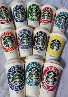 Custom Starbucks Coffee Cups, make great gifts! Perfect for teachers, co-workers, or just a little something for yourself - you deserve it.