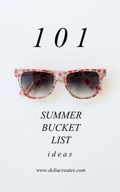 101 Summer Bucket List Ideas