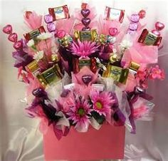 ideas fro making candy bouquets or gifts - Bing Images