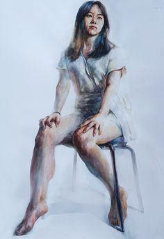 Watercolor Portrait Painting, Portrait Art, Painting & Drawing, Watercolor Paintings, Figure Painting, Figure Drawing, Hyper Realistic Paintings, Art Studies, Life Drawing