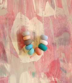 {pretty pastels handmade bead necklace}
