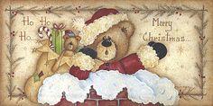 Merry Christmas - Mary Ann June - Fine-Art Print -christmas art prints and posters Christmas Animals, Christmas Signs, Christmas Pictures, Christmas Art, Arte Country, Pintura Country, Christmas Clipart, Christmas Printables, Rustic Christmas Crafts