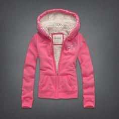 girls sherpa lined full-zip hoodie | girls hoodies & sweatshirts | abercrombiekids.com