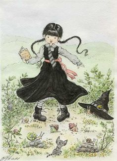 The Worst Witch. by akari-hino on DeviantArt Witch Board, Beautiful Witch, The Worst Witch, Modern Witch, Wicked Witch, Art Styles, Story Time, Witchcraft, Witches