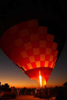 hot-air ballon ready to fly