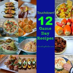 Touchdown!  12 Game Day Recipes featured on @typeaparent #superbowl #thebiggame