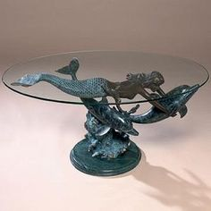 Tea Tables Bronze Finish And Mermaids On Pinterest