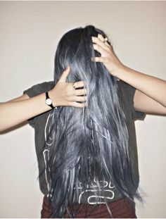 I really want to dye my hair color! Hairstyles Haircuts, Pretty Hairstyles, Hair Day, New Hair, Pelo Color Gris, Pelo Multicolor, Coloured Hair, Dye My Hair, Gorgeous Hair