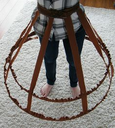 Cage hoop skirt tutorial