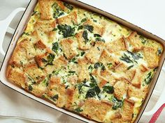 Breakfast Casserole : Healthy cooking doesn't always mean using low-fat products. The full-fat Cheddar and Parmesan together are so satisfying in this easy-to-make casserole that a…