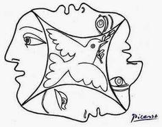 Pintores famosos: Pablo Picasso para niños. Cuadros para colorear.