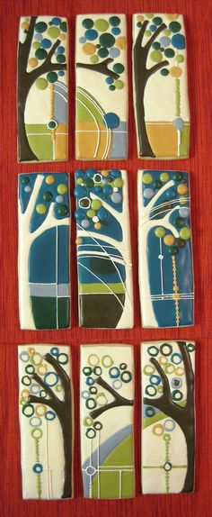 Architectural Mural Cookies- design studies for my kitchen (Rebecca Weld)