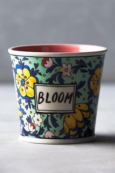 NEW Anthropologie Take Root Gardening Collection Molly Hatch Bloom Pot Planter #MollyHatch