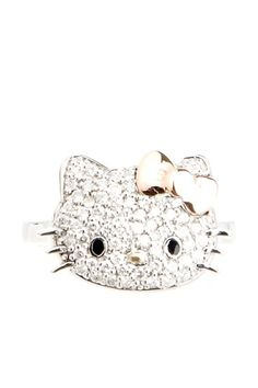 Kimora Lee Simmons for Hello Kitty 18K Gold & Diamond Hello Kitty Ring