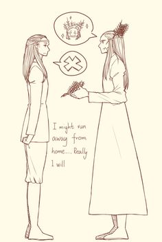 Thranduil and Legolas | I might run away from home ... in #sorry i'm not sorry about my elf problem