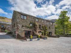 Calva (first floor, centre) is part of a barn conversion comprising of four cottages