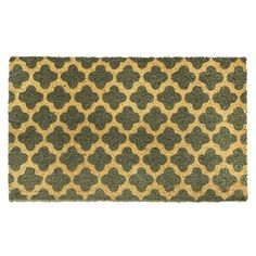 Cascade Multicolored Natural Coir Machine-woven Doormat