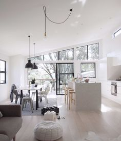 minimalist white interior