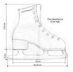 Figure skating shoe template by titataart