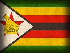 Zimbabwe Flag Art - Zimbabwe Flag Distressed Vintage Finish by Design Turnpike