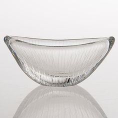 TAPIO WIRKKALA - Glass bowl model 3348 for Iittala 1955, Finland. [l. 15 cm]