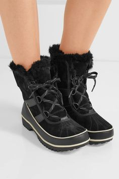 Sorel - Tivoli Ii™ Waterproof Suede And Leather Boots - Black - US7.5