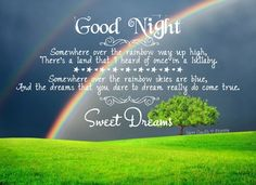 Image result for good night rainbow images