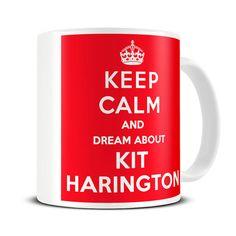 Keep Calm and Dream About Kit Harington Coffee Mug - jon snow mug - MG341