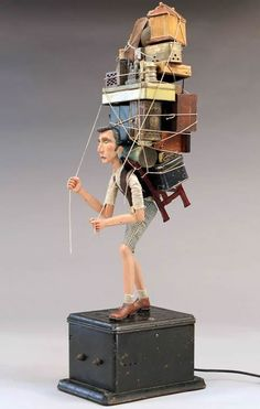 Tom Haney - Atlanta, GA artist 'Departure' Wood, wire and found objects