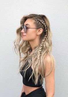25 side braid hairstyles that are simply spectacular - love hair - 25 since . - 25 side braid hairstyles that are simply spectacular – love hair – 25 side braid hairstyles tha - Side Braid Hairstyles, Pretty Hairstyles, Hairstyle Ideas, Clubbing Hairstyles, Cute Hairstyles With Braids, Hairstyles Pictures, Hairstyles For Summer, Cornrow Hairstyles White, Braided Hairstyles For Short Hair