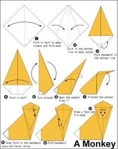 "Képtalálat a következőre: ""origami monkey"" Origami Monkey, Llama Pictures, Paper Animals, Origami Tutorial, Arts Ed, Paper Folding, Animal Crafts, Elementary Art, Christmas Crafts"