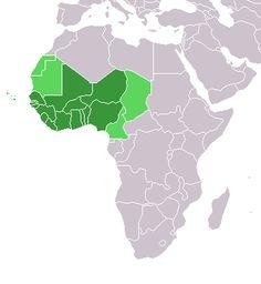 L'Afrique de l'Ouest est une région terrestre couvrant toute la partie occidentale de l'Afrique subsaharienne. Elle comprend approximativement les pays côtiers au nord du golfe de Guinée jusqu'au fleuve Sénégal, les pays couverts par le bassin du fleuve Niger ainsi que les pays de l'arrière-pays sahélien.