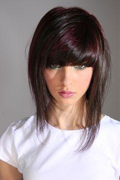 Hair: medium brown with plum highlights - Hairstyles   Hair Photo -