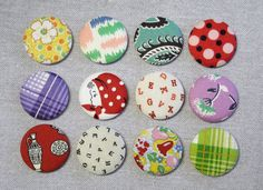 Hey, I found this really awesome Etsy listing at https://www.etsy.com/listing/253419774/fabric-button-magnets-set-of-12-feedsack
