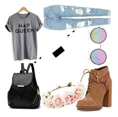 """*-*"" by pudde on Polyvore featuring Topshop, BCBGeneration, Sunday Somewhere and Forever 21"