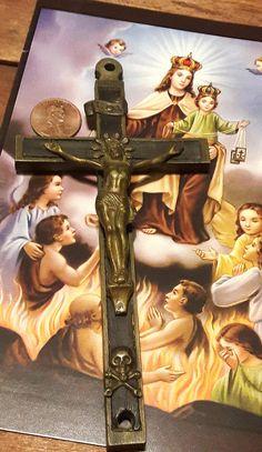 Pectoral Cross Crucifix Skull Crossbones Sacred Heart Crown