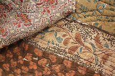 Antique French Provencal Quilt Fenetre Composition Textile c1830 Ramoneur   eBay