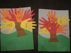 Preschool Projects – Thankful Tree