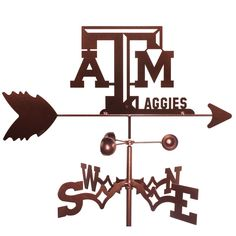 Just what your yard needs! An Aggie weathervane!