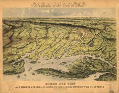 Panorama of the seat of war. Birds eye view of Virginia, Maryland, Delaware, and the District of Columbia