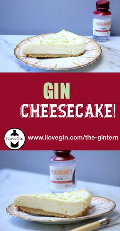 This white chocolate, lime & GIN cheesecake will be a big hit and it is very easy to make, with no baking involved! Gin Tonic, Pickering's Gin, Cocktails To Make At Home, Gin Tasting, Gin Gifts, Gin Recipes, White Chocolate, Lime, Lima