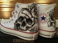 Converse  Customer painted Shoe Art