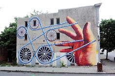Open Walls Project in Station North Baltimore. This piece is by Baltimore native, Nanook.